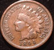 Us Coin - 1894 Indian Head Cent / Pick Quarter S.1 Box
