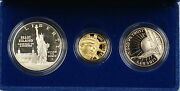 1986 Us Mint Liberty Commemorative 3 Coin Silver And Gold Proof Set As Issued Amt