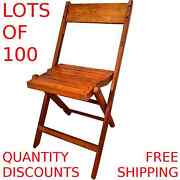 Vintage Antique Wood Wooden Folding Chairs Lot Of 100