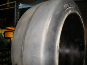 20x5x16 Tires Wide Track Solid Forklift Press-on Tire Black Smooth 20516
