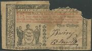 Colonial Currency Nj-216 Vg Ext Rare 30 Shillings May 171786 Wl9605