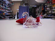 Waterford Crystal Dated 2001 12 Days Of Christmas 7 Swans A Swimming No Box