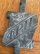 Old Heavy Bronze Plaque Phi Rho Pi Pharmaceutical Fraternity Ma Pharmacy College