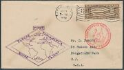 C14 Vf+ On First Pan-am Round Flown Cover Flag Cancel Bs6109