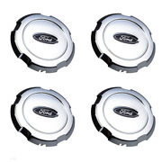 2006-2008 Ford F-150 Chrome 18 Wheel Hub Cover Center Cap Set 4 Oem 6l3z-1130-d