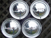 Vintage 1949 1950 Desoto Sportsmam Custom Deluxe Sedan Club Hubcaps Wheel Cover