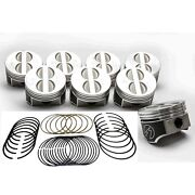 Speed Pro Chevy 350/5.7 Forged Flat Top Coated Pistons+ductile Race Rings +30