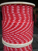 Novatech Xle Halyard Sheet Line Dacron Sailboat Rope 3/8 X 150and039 Red/white
