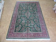 10 X 15and0399 Hand Knotted Green Fine Sarouk Oriental Rug G1214