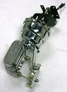 Chrome Chevy Truck 7 Power Booster Milled Master Cylinder And Bracket Disc Drum