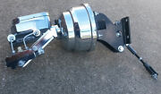 Chrome Chevy Truck 8 Power Booster Smooth Master Cylinder And Bracket Disc Drum