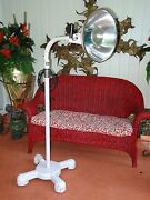 Antique 40and039s Castle Medical Exam Floor Light Lamp Industrial Steampunk