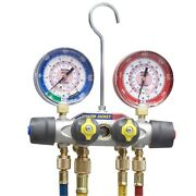 Yellow Jacket 49922 Titan Manifold Only Anddegf And Anddegc Liquid Gauges Bar/psi R-22