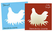 Joanie Sm. Stencil Hen Nest Chicken Rooster Farm Egg Country Home Signs U Paint