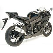 2012 Zx6r Leo Vince Sbk Unlimited Shorty Slip On Exhaust Polished 2009 2010 2011