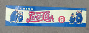 Old Embossed Tin Lithographed Sign Advertising Pepsi Cola