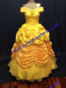 Princess Dress Beauty And Beast Belle Costume Adult Size 6,8,10,12,14,16