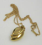 And Co Gorgeous Vintage 1980 Elsa Peretti 18k Yellow Gold Leaf Necklace