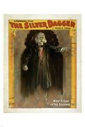 Theater Poster The Silver Dagger Dramatic Spooky One Of A Kind Dark 24x36