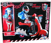 Monster High Ghoulia Yelps Sir Hoots A Lot Scooter Playset Doll Pet Owl Vehicle