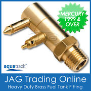 Brass Fuel Tank End Fitting Mercury/mariner 1999 And Up - Boat/outboard Fuel Line