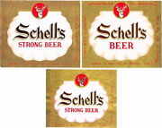 Lot Of 3 Different Unused Early-1950s Schell's Beer Labels Tavern Trove New Ulm