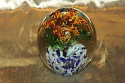 Lovely Glass Orchid Or Lilly Flower Art Glass Paperweight