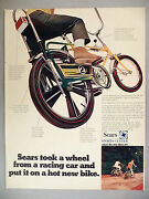 Sears Screamer Bicycle Print Ad - 1969 Green And Yellow