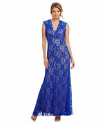 New Xscape Scalloped Lace Gown Prom Wedding Evening Party