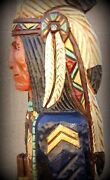 6and039 Cigar Store Indian Sergeant Blue Coat Calvary 6 Ft Wood By Frank Gallagher