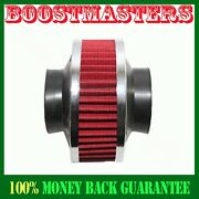 Universal 3 Performance Cold Air Intake Filter Valve Pipe Rubber Red