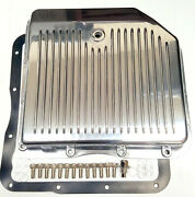 Chevy Gm Finned Polished Aluminum Transmission Pan Th350 Turbo 350 Trans Th-350