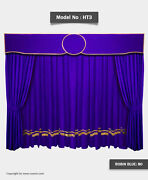 Saaria Stage And Event Backdrop/movie Cinema Velvet Curtains 12'w X 8'h Ht3