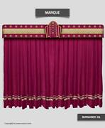 Saaria Marquee Decorative Stage Curtain Movie Theater Valance Curtain 20and039wx9and039h