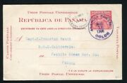 Panama Stationery Maritime Rms California Colon Map Pacific Steam 1906