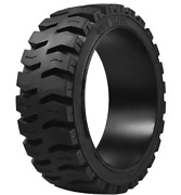 18x9x12-1/8 Tires Wide Track Solid Forklift Press-on Tire Black Traction 18912