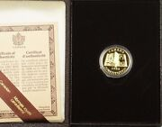 1982 Canada Constitution 100 22k Gold Proof Commemorative Coin As Issued