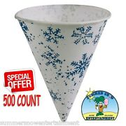 Snow Cone Cups 500 Cups Snow Flake Cups