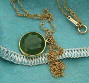 And Co Vintage Elsa Peretti 18k Yellow Gold And Green Jade Facets Necklace