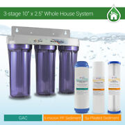Whole House Water Filter 2.5 X 10 Three Stage Filtration System 3/4 Inlet