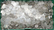 1892-1916 Lot Of 10 Silver Barber Quarters 25c Ag