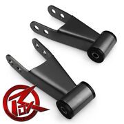 2 Rear Drop Shackles Lowering Pair For 97-03 Ford F150 Leveling Kit 2wd 4wd