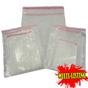 Strong Plain Clear Bubble Bags Pouches Peel And Seel All Sizes/qtys Best Prices