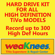Tivo Hard Drive Upgrade/repair Kit For High Definition Tivos-6 Month Warranty