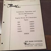Eclipse-pioneer Dc Generators Install Operating And Service Instructions Manual