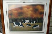 Limited Edition Print Cowsof Autumn Lowell Herrero Signed Numbered