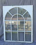 Antique Palladian Window Dome 14 Lite Arch Top Cabinet Shabby Old Chic 1287-16