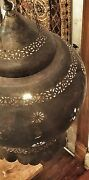 Vintage Moroccan Lantern - Over-sized Hand Hammered Copper