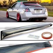 Fit 07-12 Altima 4dr Black Tinted Acrylic Rear Roof Window Shade Visor Spoiler