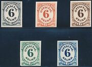 O50tc4a-e Atlanta Trial Color Plate Proofs On Card 6andcent Post Office Dept Bt2295